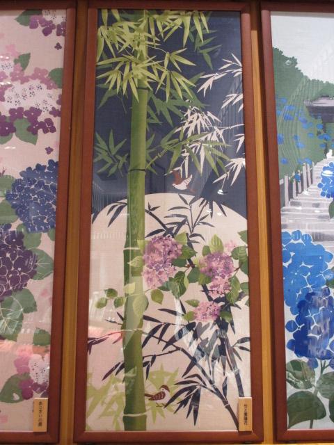 絵てぬぐい「竹と紫陽花」