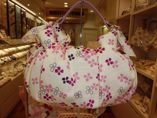 FUROSHIKIクロス あじさい模様×着せかえベルト ふろしきバッグ