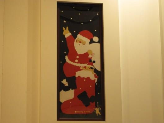 絵てぬぐい サンタ登場 ¥1050