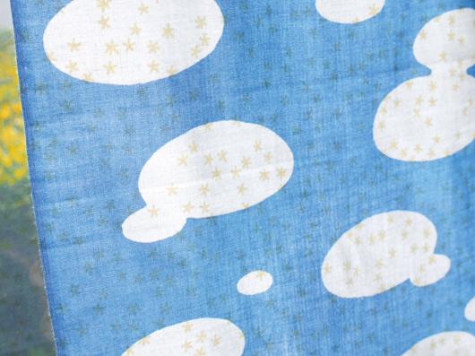 重ね絵てぬぐい 雲/星