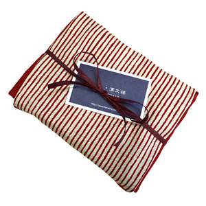 小布 染分縞 赤&お茶ギフトセット
