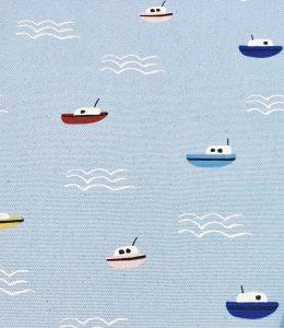 柄:波と船