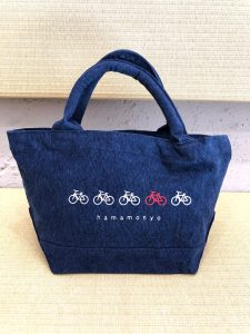 ウォッシュキャンバストート「自転車」